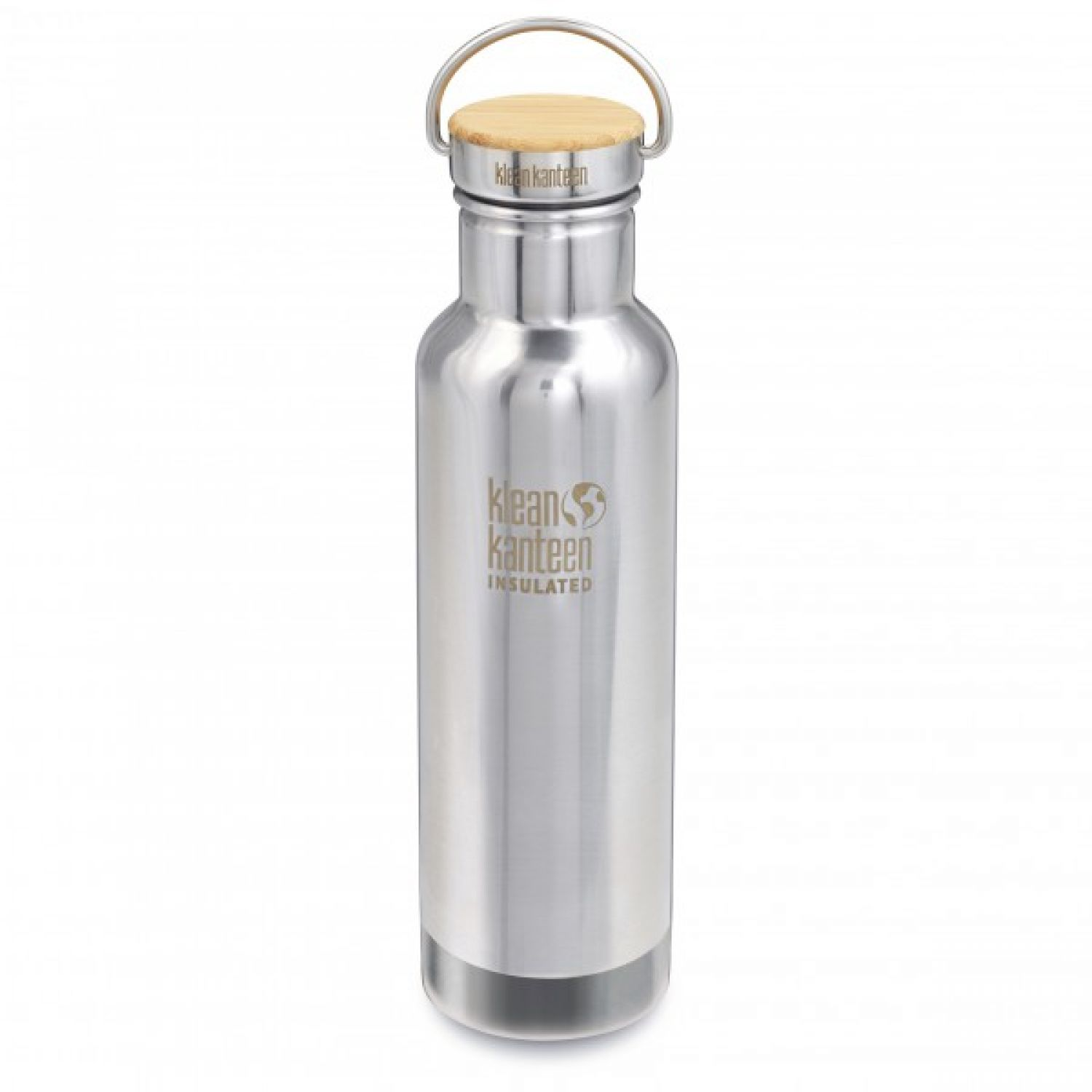 Klean Kanteen | Reflect Vacuum Stainless Bamboo Cap - Isolierflasche Brushed Stainless | 592 ml